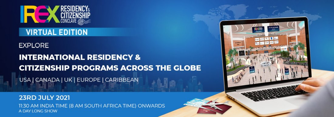 IREX Residency & Citizenship Conclave 2021, Virtual Edition, 23 July | Online Event | AllEvents.in