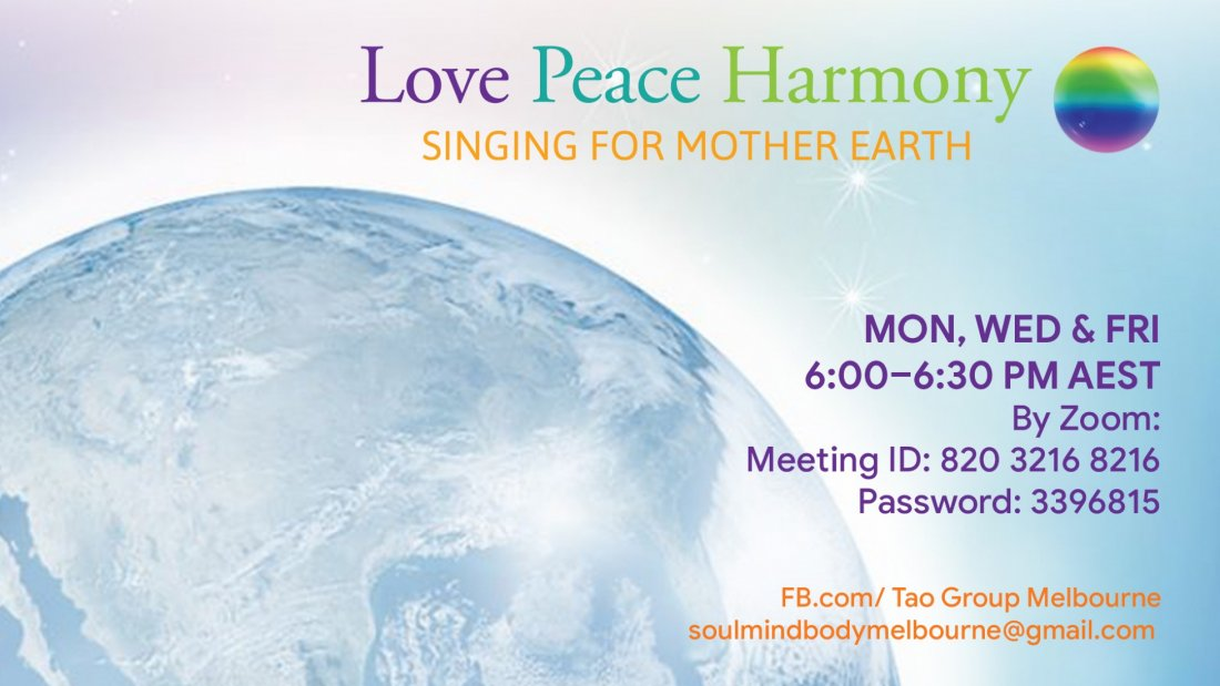 Love Peace Harmony Singing for Mother Earth, 28 July | Online Event | AllEvents.in