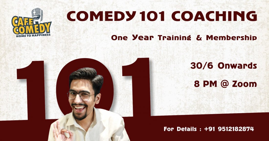 Comedy 101 Coaching : 1 Year Long Training & Membership, 30 June | Online Event | AllEvents.in