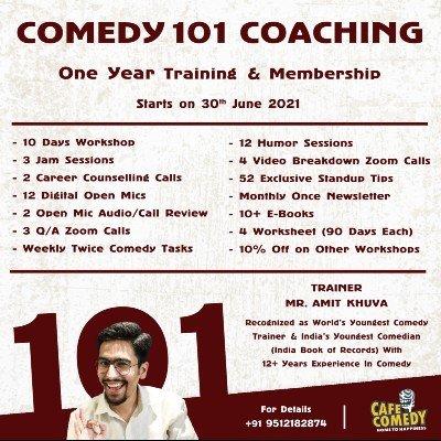 Comedy 101 Coaching  1 Year Long Training & Membership
