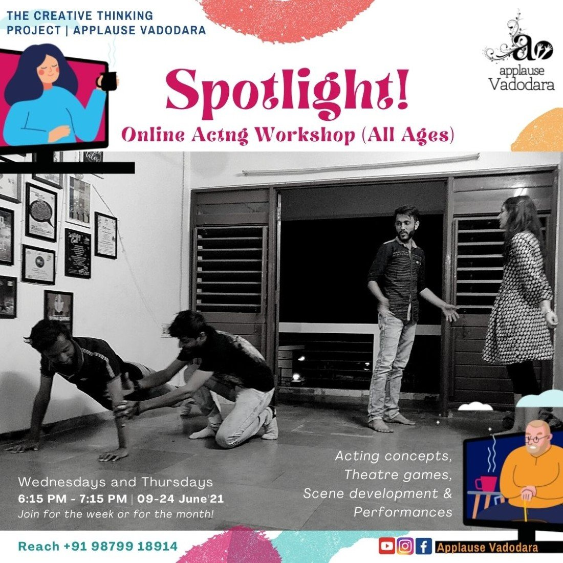 Spotlight - Acting workshop   All age groups   Teens and Adults   Online Event   AllEvents.in