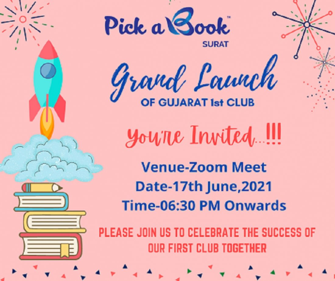 Pick A Book,Surat-Grand Launch, 17 June | Online Event | AllEvents.in