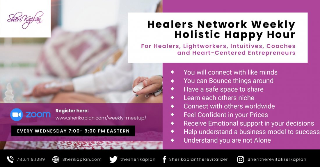 Holistic Happy Hour Networking for Healers, Psychics, Coaches, Lightworkers, Readers, 23 June | Online Event
