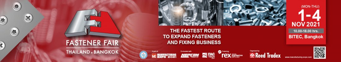 Fasteners Fair Thailand 2021, 1 November | Event in Bangkok | AllEvents.in