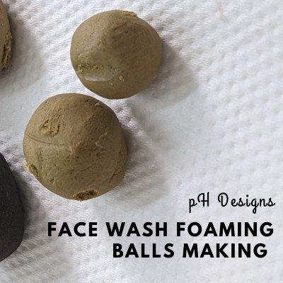 Face Wash Foaming Balls Making Workshop