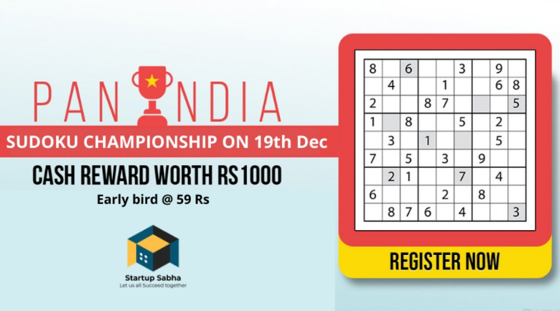 All India Sudoku Championship - Winter 2021, 19 December | Online Event | AllEvents.in