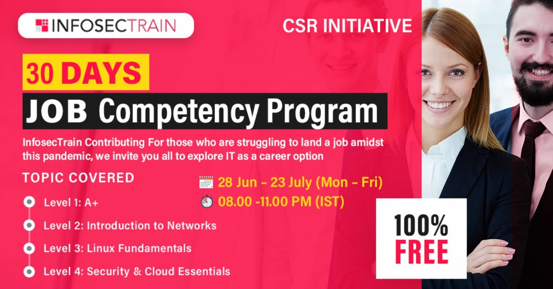 InfosecTrain brings you 30 Days Free Job Competency Program   Online Event   AllEvents.in