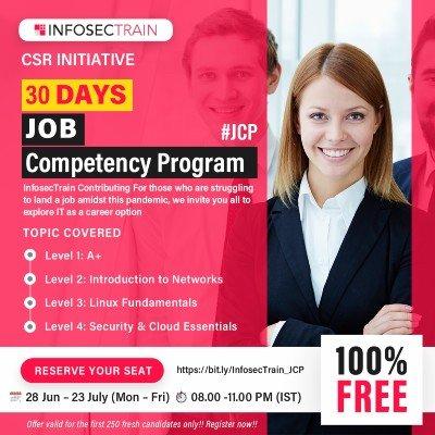 InfosecTrain brings you 30 Days Free Job Competency Program