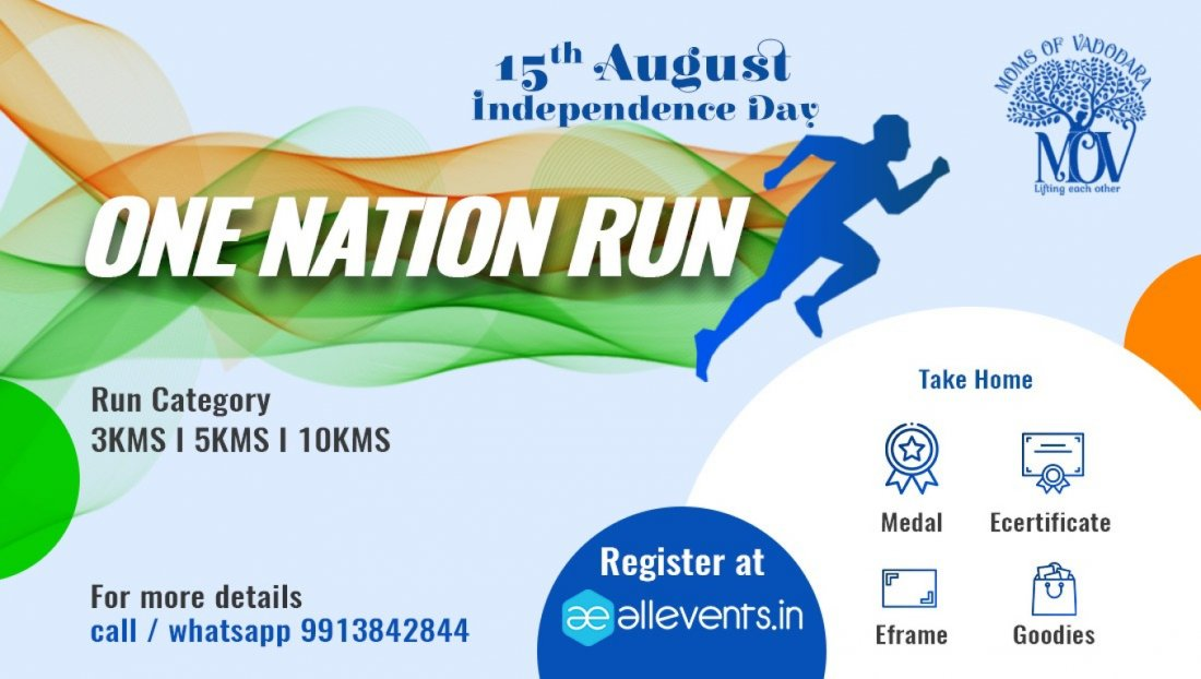 INDEPENDENCE DAY - ONE NATION RUN, 15 August | Online Event | AllEvents.in