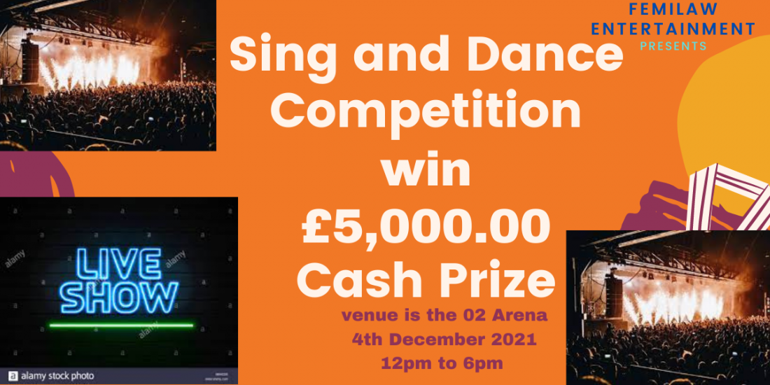 Sing and Dance Competition UK, 4 December | Event in Barking | AllEvents.in