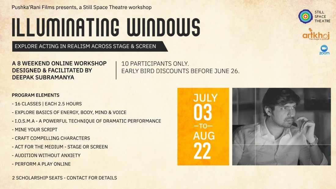 Illuminating Windows: Workshop for realistic screen performance   Online Event   AllEvents.in
