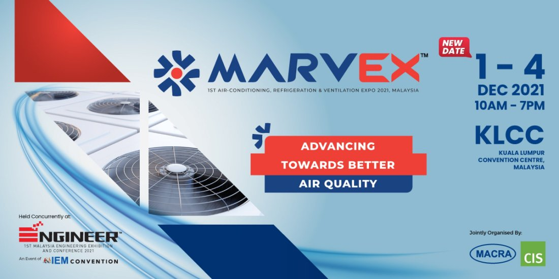 MARVEX 2021 - 1st Air-Conditioning, Refrigeration & Ventilation EXPO 2021, Malaysia, 1 December | AllEvents.in