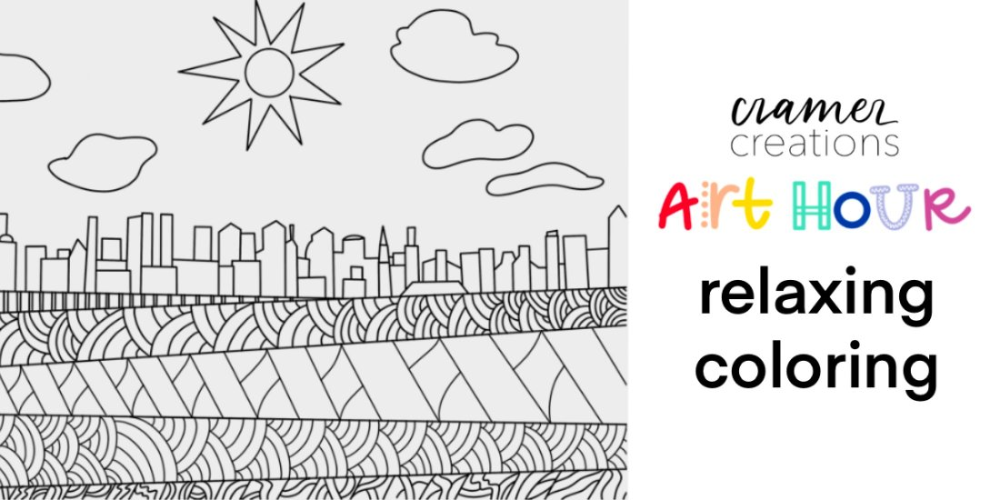 Art Hour: Relaxing Coloring    Online Event   AllEvents.in