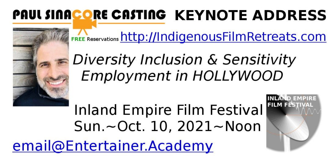 Paul Sinacore Casting IEFF Keynote Address, 10 October | Event in Guasti | AllEvents.in