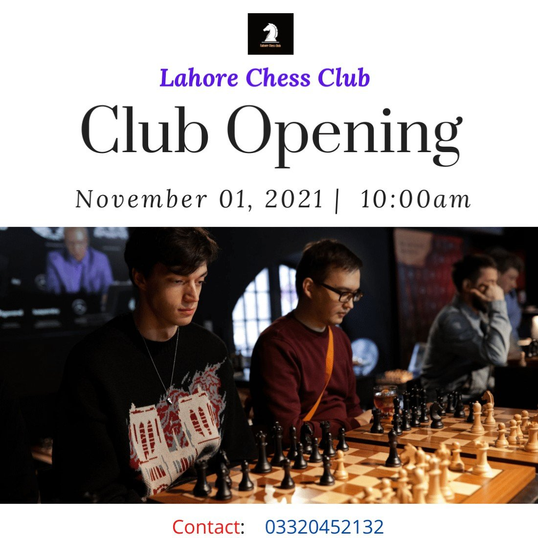 Lahore Chess Club : Club Opening Ceremony, 1 November | Event in Lahore | AllEvents.in