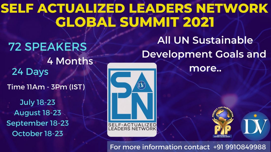 Self-Actualized Leaders Network Global Summit 2021 | Online Event | AllEvents.in