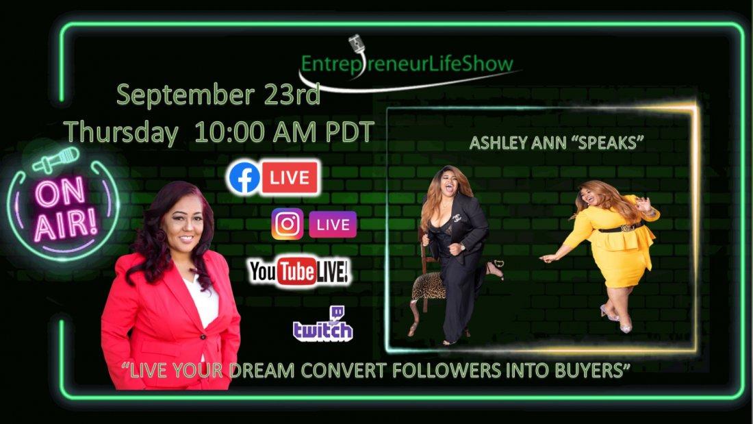 """Social Media Mogul  Ashley Ann """"SPEAKS"""", 23 September   Online Event   AllEvents.in"""