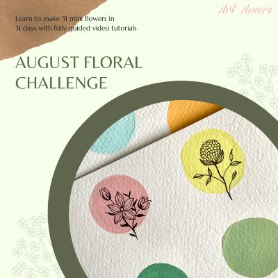 31 Floral Illustration in 31 days August Challenge with shahrachaita