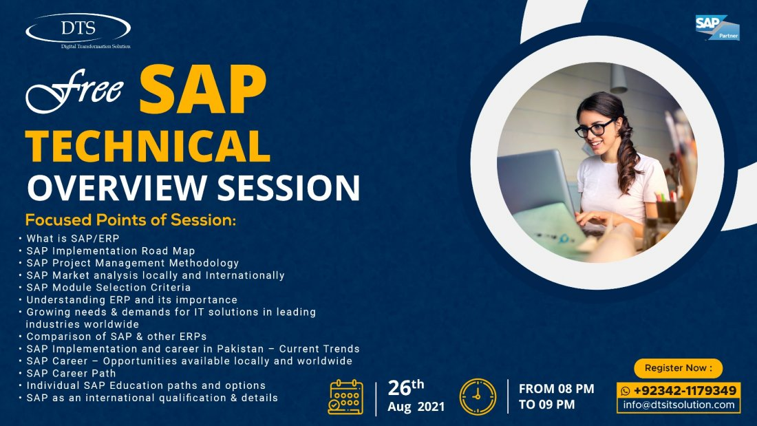 Free SAP Technical Overview Session, 26 August | Online Event | AllEvents.in