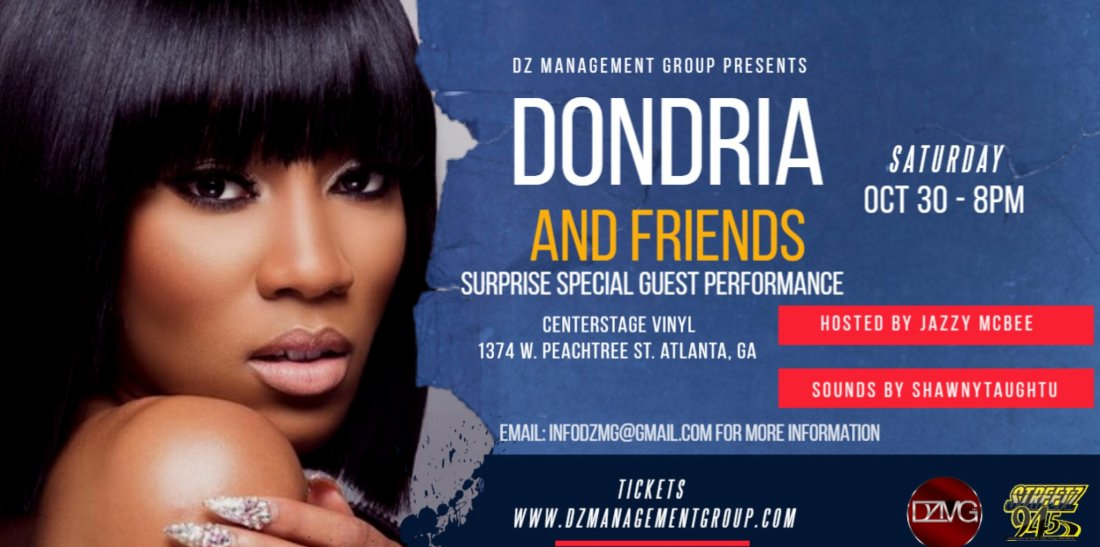Dondria and Friends Performing Live in Atlanta Hosted by Jazzy McBee, 30 October | Event in Atlanta | AllEvents.in