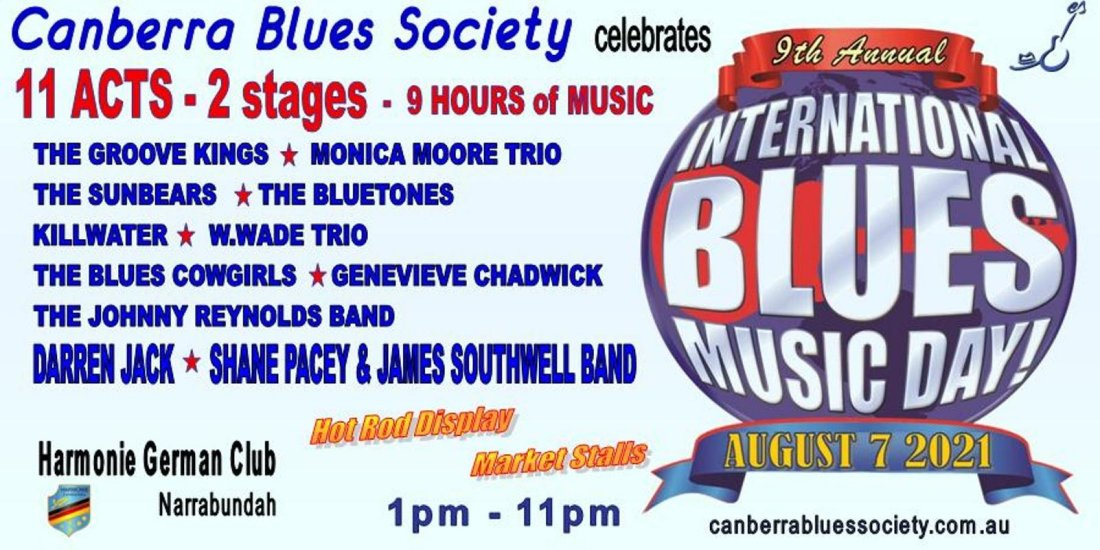 CBS celebrates International Blues Music Day , 7 August   Event in Narrabundah   AllEvents.in