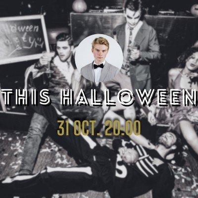 Night Pool Live DJ Ball - Halloween