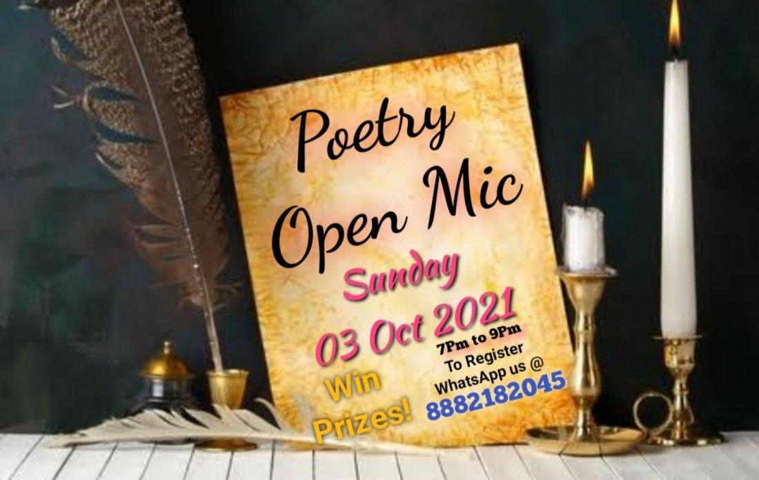 Alfaz(Open Mic Poetry) 2, 3 October | Online Event | AllEvents.in