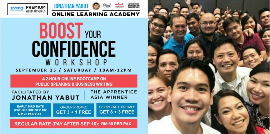 Boost Your Confidence Workshop (A Premium Webinar by Jonathan Yabut) -MY, 25 September | Online Event | AllEvents.in