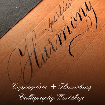 Copperplate  Flourishing calligraphy workshop