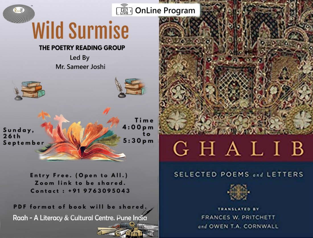 Wild Surmise (OnLine) The Poetry Reading Group , 26 September | Online Event | AllEvents.in