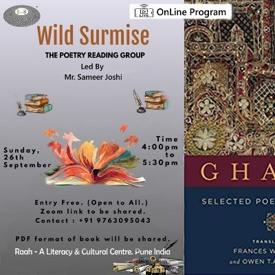 Wild Surmise (OnLine) The Poetry Reading Group