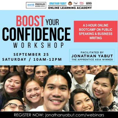 Boost Your Confidence Workshop (A Premium Webinar by Jonathan Yabut) -MY
