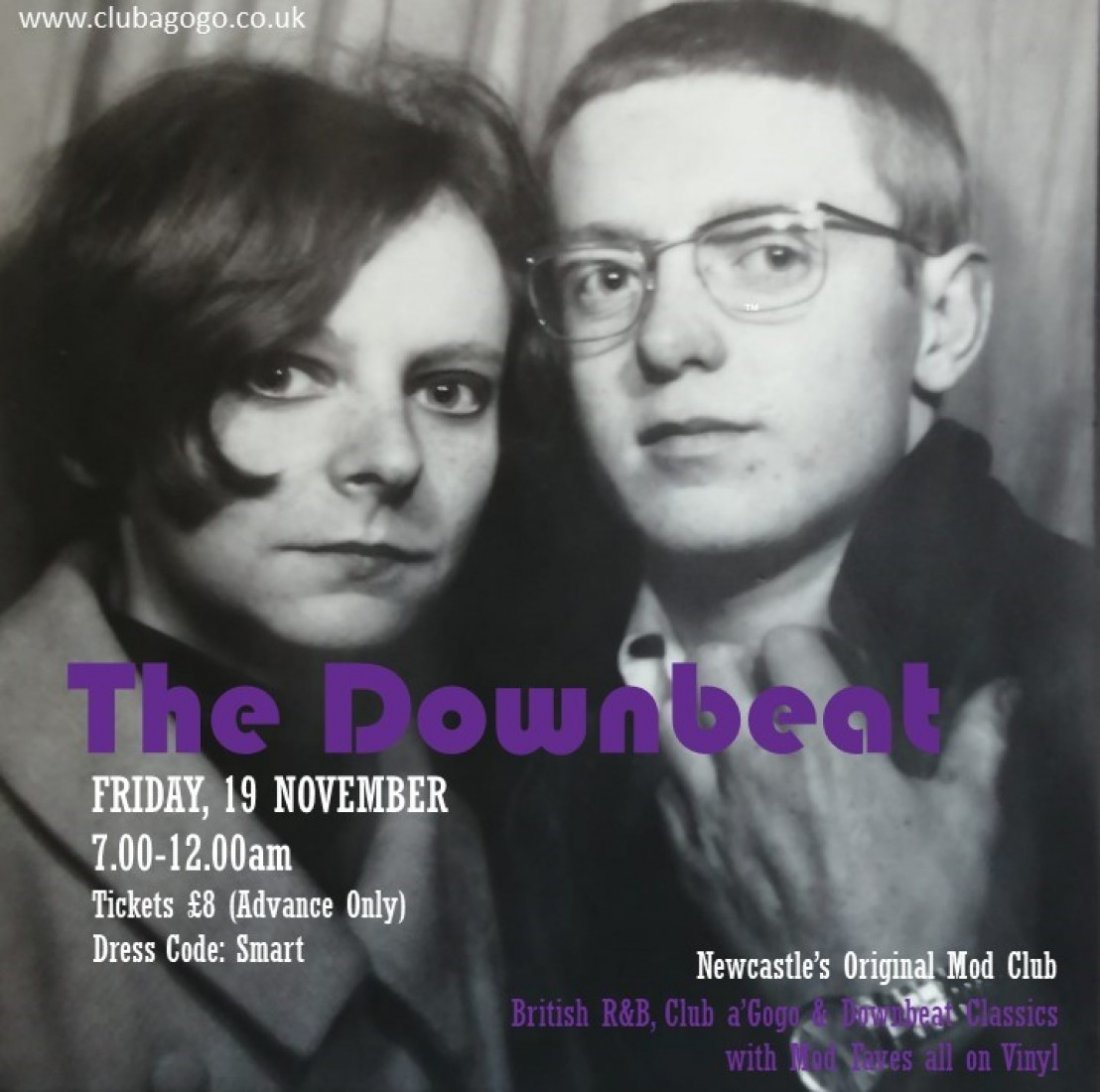 The Downbeat Mod Club, 19 November | Event in Newcastle Upon Tyne | AllEvents.in