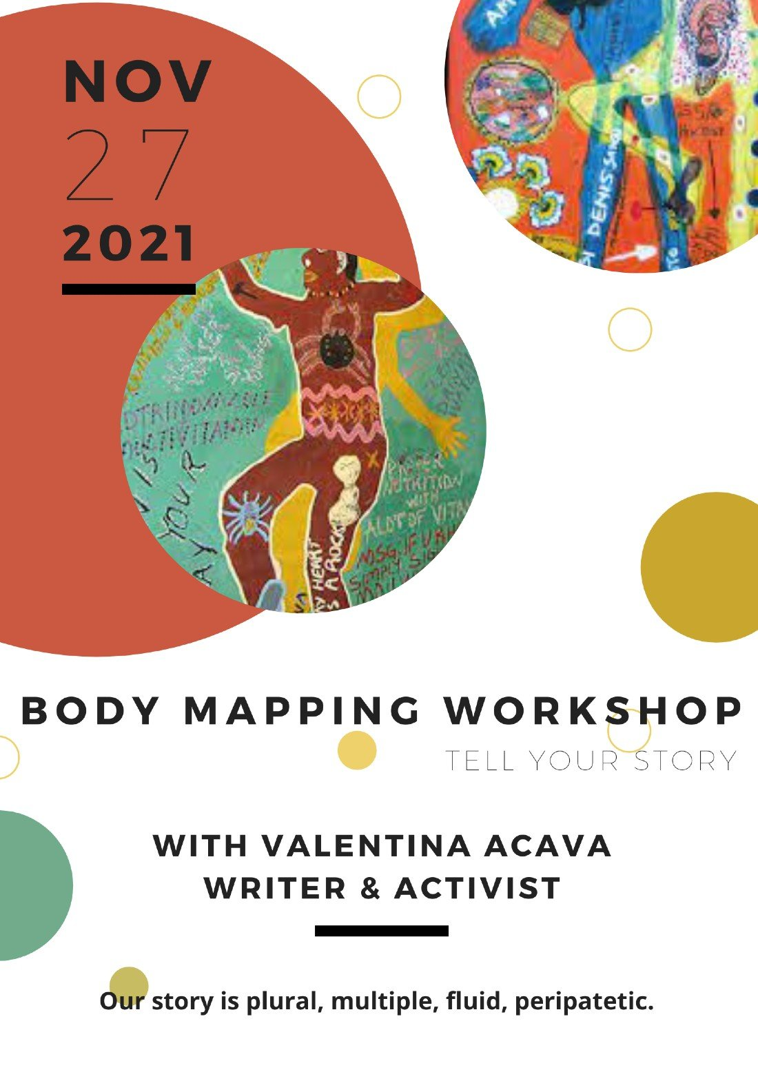 BODY MAPPING. A Storytelling workshop, 30 October | Online Event | AllEvents.in