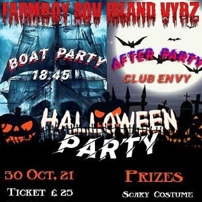 HALLOWEEN BOAT PARTY  & AFTER PARTY
