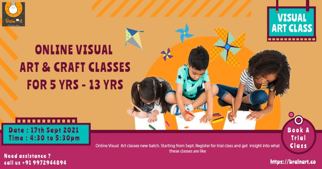 Visual Art classes for kids- Register Trial | Online Event | AllEvents.in