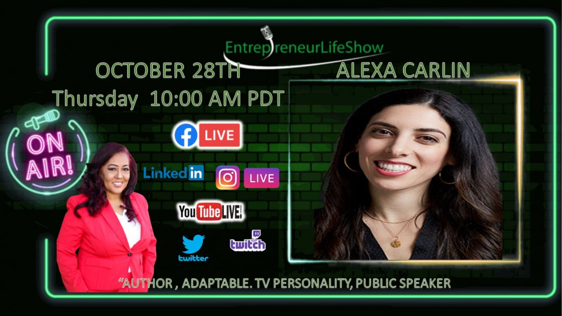 Alexa Carlin -Public Speaker, author of Adaptable, TV personality, 28 October   Online Event   AllEvents.in