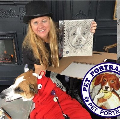 Halloween Dog Party  with Pet Portrait Fun Live Sketching