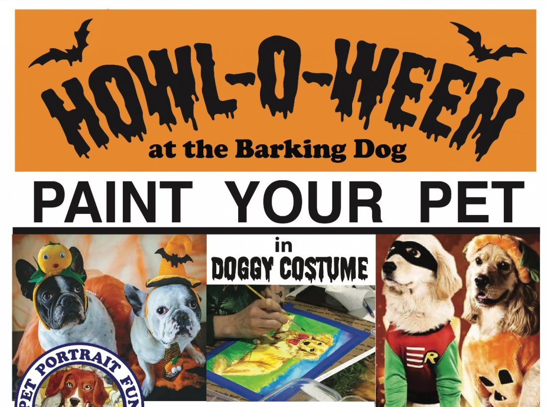 HOWLOWEEN Sip and Paint a Pet Portrait Fun- Barking Dog New York, 30 October | Event in New York | AllEvents.in