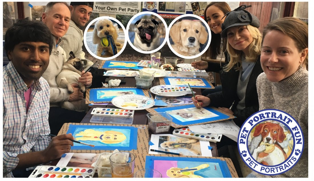 Sip and Paint Pet Portrait Fun...Dogs Welcome!  | Event in New York | AllEvents.in