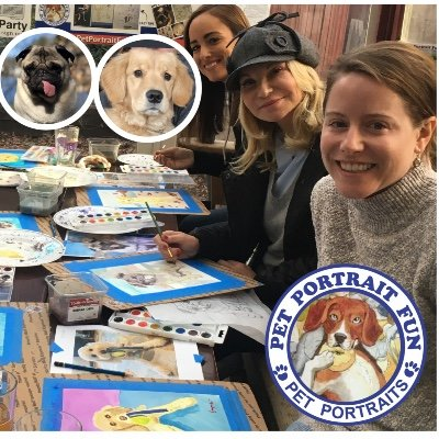 Sip and Paint Pet Portrait Fun...Dogs Welcome