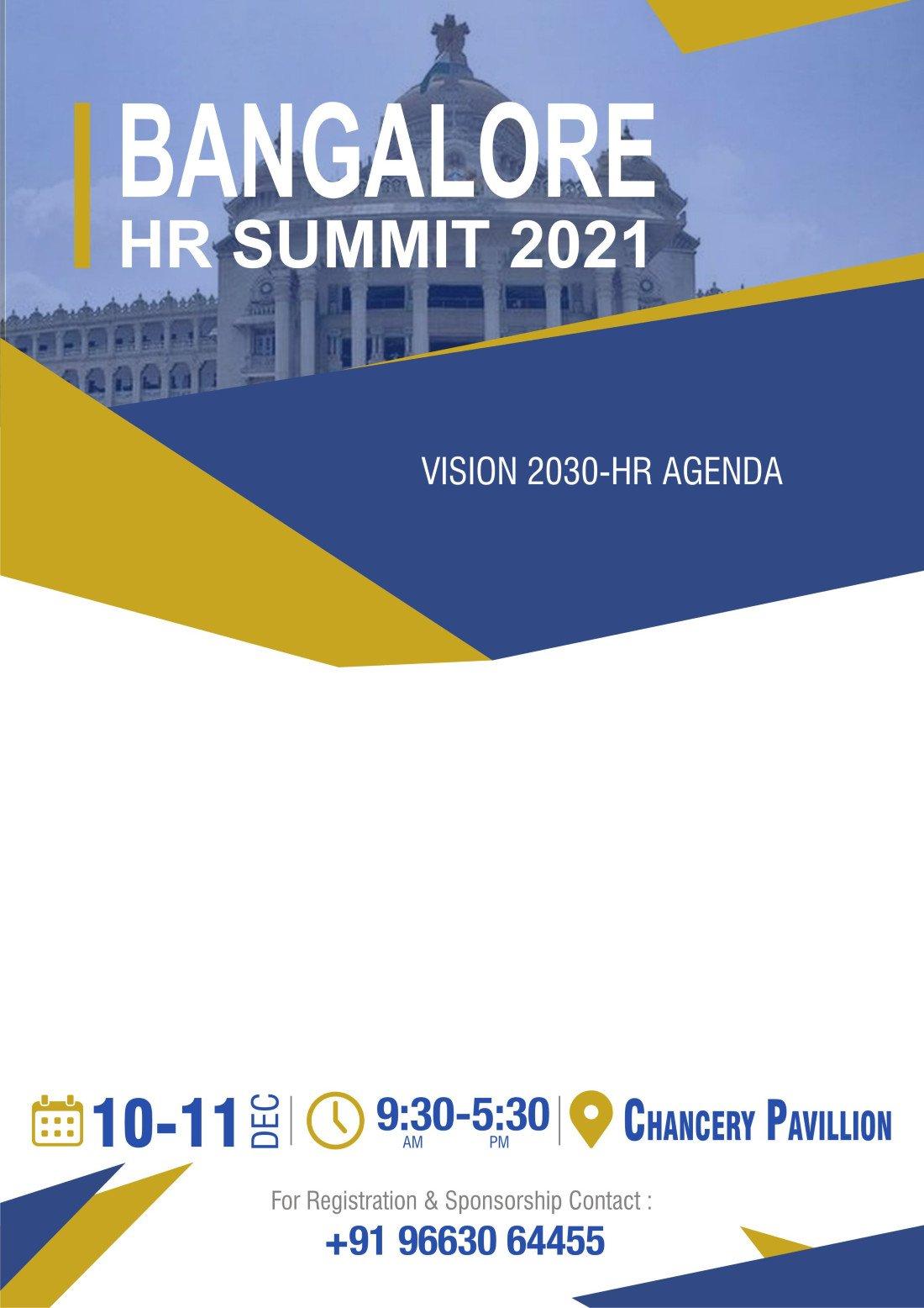 Bangalore HR Summit 2021, 10 December   Event in Bangalore   AllEvents.in