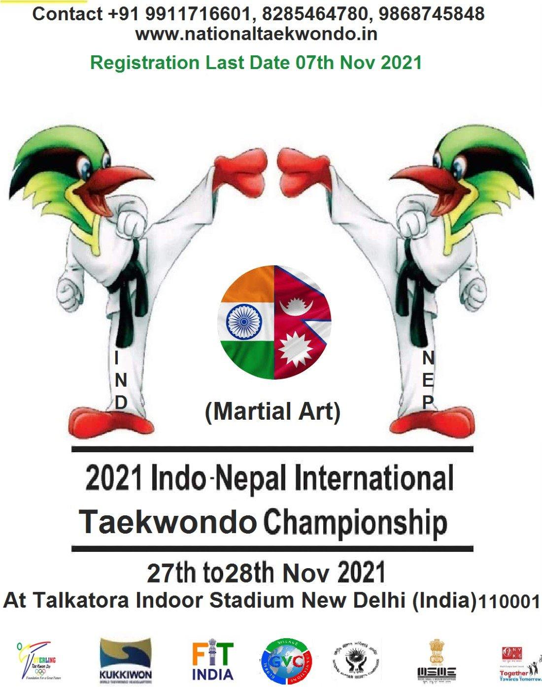 2021 INDO-NEPAL INTERNATIONAL  TAEKWONDO CHAMPIONSHIP , 27 November | Event in New Delhi | AllEvents.in