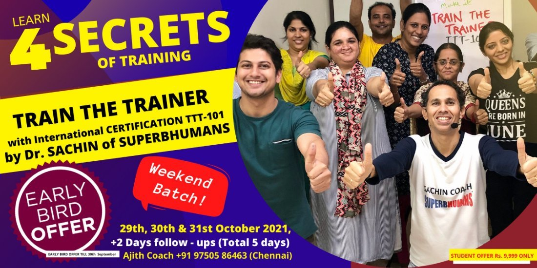 Train The Trainer (TTT- 101) – International Certification – Learn A to Z of Training, 29 October | AllEvents.in