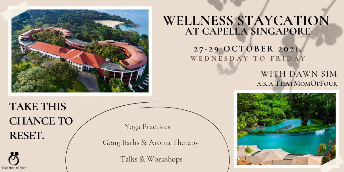 Wellness Staycation at Capella Singapore with Dawn Sim, 27 October | Event in Singapore | AllEvents.in