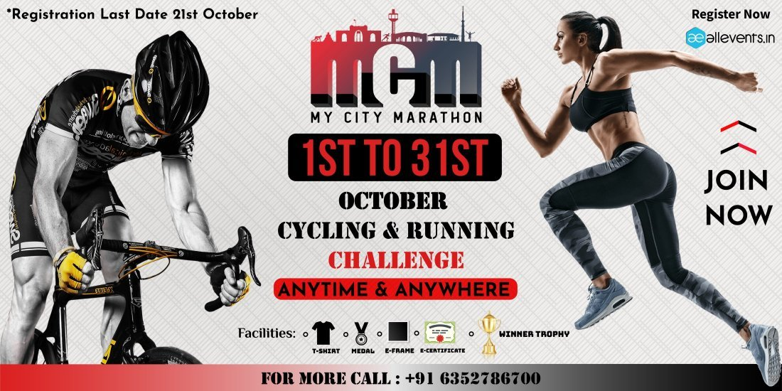 October Cycling & Running Challenge   Online Event   AllEvents.in