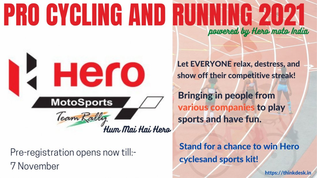 PRO CYCLING AND RUNNING 2021 powered by HERO, 7 November | Online Event | AllEvents.in