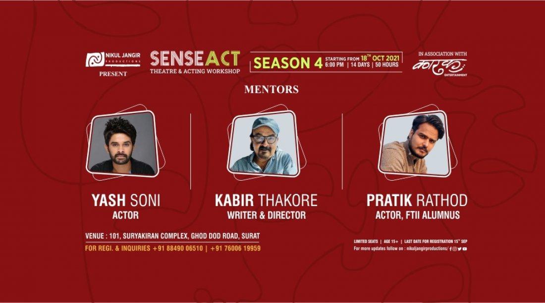 SENSEACT-Theatre & Acting Workshop (Season-4) | Surat, 18 October | Event in Surat | AllEvents.in