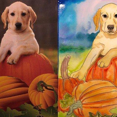 Paint a Pup on Pumpkin Patch - Online