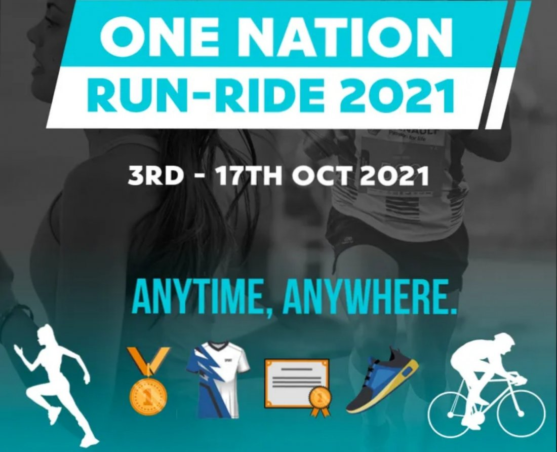 ONE NATION  RUN-RIDE 2021, 3 October | Online Event | AllEvents.in